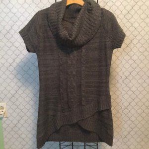 New Directions GrayCowl Neck Tunic|Sz LP